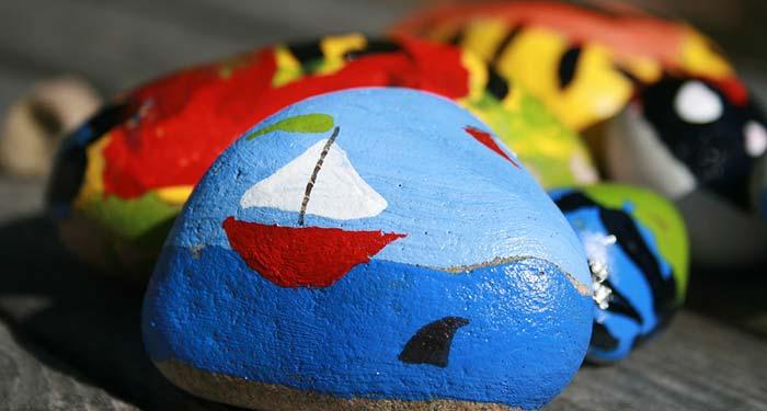 male på steiner, formingsaktivitet for barn