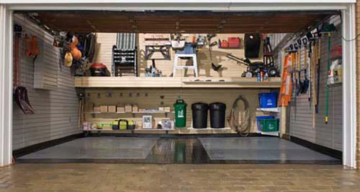 ryddig garasje