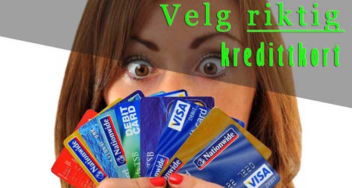 velg riktig kredittkort