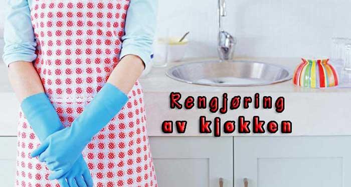 rengjøring av kjøkken